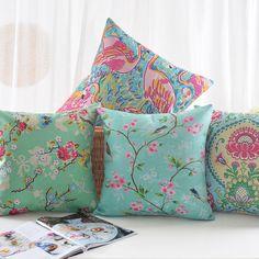 Aliexpress.com : Buy Ikea Linen Pillow Cover Bird Floral Flamingo Cushion Cover Home Decorative Pillow Case 45x45cm from Reliable case batman suppliers on e-fun store  | Alibaba Group
