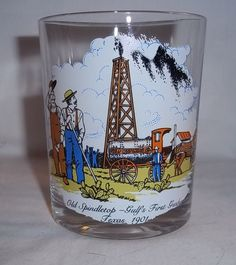 Gulf Collectors Series Limited Edition Glass Gulfs First Gusher Texas 1901 #Gulf