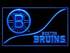 Boston Bruins Wave Script Shop Neon Light Sign