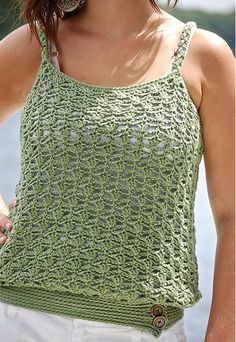 "The ""Lakeshore"" Women's Tank Top, de Jennifer Pionk. http://www.ravelry.com/patterns/library/the-lakeshore-womens-tank-top"