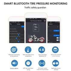 TireCheck Motorcycle tire pressure Monitoring system from your mobile – Must2have.com