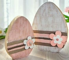 Wood Cubes For Crafts - Easter wood crafts - Spring Crafts, Holiday Crafts, Holiday Decor, Diy Osterschmuck, Easy Diy, Easter Crafts For Adults, Hoppy Easter, Easter Eggs, Easter Bunny