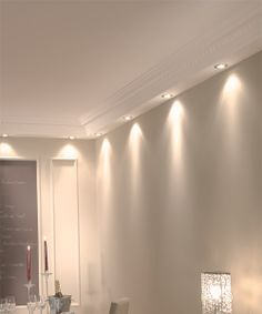berkeley molding with spot lighting