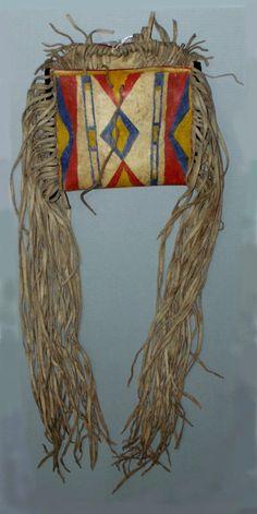 Wind River Shoshone parfleche bag  NMNH  ac