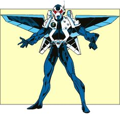 flying wing suit -- Mach IV -- Marvel character