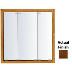 Kraftmaid Cottage 36-In X 30-In Square Surface/Recessed Mirrored Wood