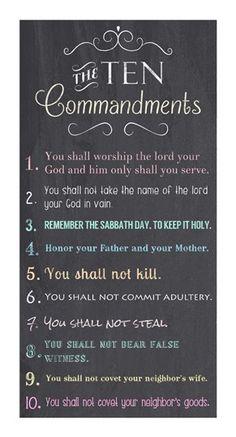 The+Ten+Commandments+-+Chalkboard+at+FramedArt.com