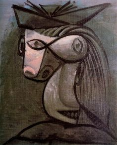 "Pablo Picasso - ""Head of a Woman with Hat"", 1962"