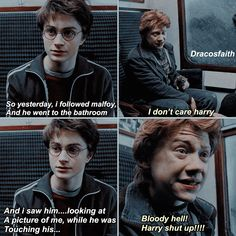 nO, HARRY, GO ON #drarry