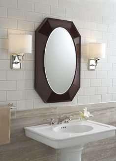 Tuxedo By Barbara Barry Faucet Mirror Pedestal Sink And Lighting A Collection Of Refined Simplicity Kallista