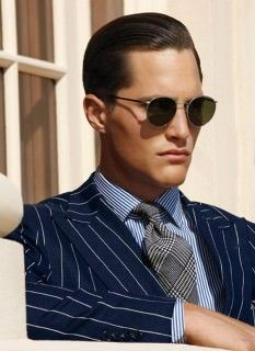 Glencheck Tie Chalk Stripe Suit