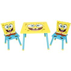 table and chairs - Spongebob Bedroom Set