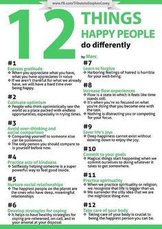 Feeling down? Here are the 12 things happy people do differently.