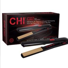 The CHI G2 styler has titanium infused ceramic plates, a temperature display and  a ceramic heater! Come get one at Alamo Barber and Beauty!  #haircare #CHI #chig2 #texas #beauty #styler #alamobarber #sanantonio #texas