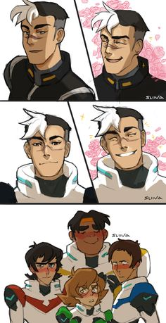 the paladins and then there's Shiro being fabulous