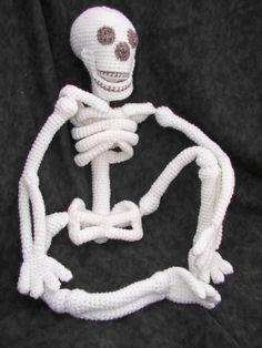 """Realistic Bona Fide Skeleton Crochet Amigurumi by CraftyDebDesigns, $5.98"" #Amigurumi  #crochet"