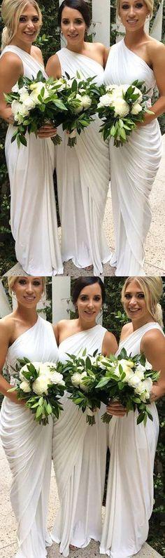 One shoulder bridesmaid dress, simple bridesmaid dresses, cheap bridesmaid dresses, jersey bridesmaid dresses, wedding party dresses, PD15319 #bridesmaid #bridesmaids #bridesmaiddress #weddingparty #wedding #weddings #weddingpartydress #weddingguest