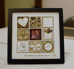 framed card collage