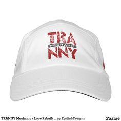 TRANNY Mechanic - Love Rebuilt Transmissions, Red Headsweats Hat for Automotive Enthusiasts, for Skilled Auto Mechanics and Technicians, for Transgender and Transsexual Rights Advocates and for Proud Social Justice Warriors of Gender Equality Movement - #automotive #lgbt #transmission #tranny #mechanic #ladyboy #carengine #shemale #autorepair #tgirls #carmechanic #transsexual #carrepair #transgender #genderidentity
