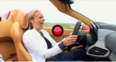 Fifth Gear's Vicky Drives The New Ferrari 458 Italia Spider With Its Top Down