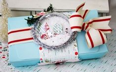 Village Snow Globe Box by Melissa Phillips for Papertrey Ink (September 2014)