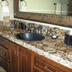 Ideas for bathroom granite countertops