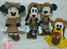 Mickey safari em feltro