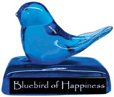 Just like my grandma's blue bird of happiness. Not a very attractive shape, but inspiring...