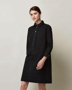 Black denim shirt dress (Toast)