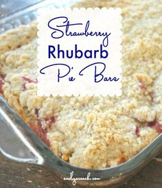 A sweet dessert recipe for summer! Strawberry Rhubarb Pie Bars will impress your friends with fresh fruit and maybe some ice cream on the side, right?!
