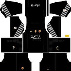 kit-barcelona-dls16-uniforme-goleiro-fora-de-casa-15-16 Barcelona Vs Arsenal, Fc Barcelona, Liverpool Kit, Soccer League, Soccer Kits, Gabriel, Mockup, Football Jerseys, Football Kits