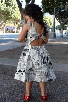 Rebel Girl Party Dress PDF Sewing Pattern