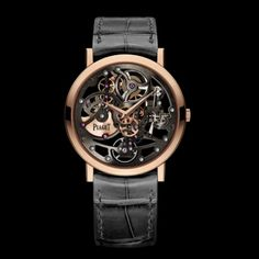 Rose Gold Ultra-Thin Skeleton Watch G0A38132 - Piaget Luxury Watch Online