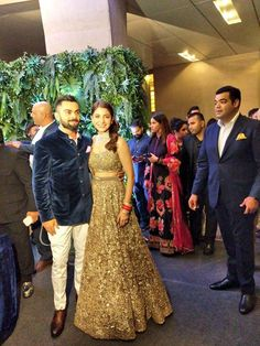 First pic of  Virat Kohli Anushka Sharma at their wedding reception in Mumbai - http://ift.tt/1ZZ3e4d