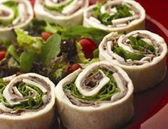 roast beef & cheddar pinwheels, could also do turkey & swiss or ham & american
