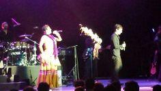 "Lila Downs & Gilberto Cerezo de Kinky singing ""La Cucaracha"". The Greek Theatre,  Los Angeles,  CA"