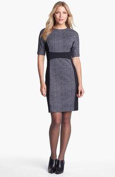 MICHAEL Michael Kors Contrast Panel Crewneck Dress available at #Nordstrom