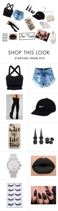 """""""New"""" by daffy-fashion ❤ liked on Polyvore featuring Liliana, Kayu, NIKE, Casetify, Michele and Temptation Positano"""