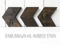 """Added color option! Dark brown oil-rubbed stain! (see last pic)Created from pine wood, these arrows look great anywhere in your home! We love them on a gallery wall or by themselves. Or group them with a photo or two. Arrange them horizontally or pointing up or down. Wide enough to stand on a shelf, too!  Measures 5 1/2"""" x 5 1/2"""" at longest points high-quality, kiln-dried pine that is locally sourcedhand-cut and sandedstained, painted and distressed for that lovely """"worn-in..."""