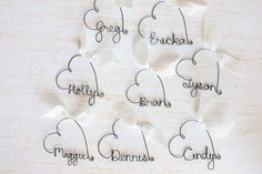 Custom Name Wine Glass Charms  Wedding Favor Wine by kraze4paper, $6.00...totally awesome!!