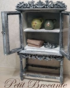 OOAK French cabinet Dollhouse miniatures by PetitBrocanteMinis