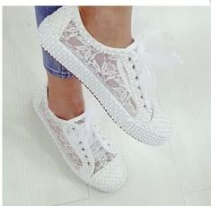 Wedding shoes bridal converse sneakers lace-up shoes wedding shoes lace-up wedding shoes Converse Wedding Shoes, Wedding Sneakers, Wedge Wedding Shoes, Wedding Shoes Bride, Lace Sneakers, Bride Shoes, Lace Shoes, Converse Sneakers, Wedge Shoes