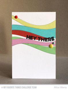Ride the Wave Die-namics, Wavy Greetings Stamp Se - Alice Wertz #mftstamps