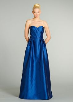 Luxurious+A-Line+Sweetheart+Floor+Length+Satin+Blue+Sleeveless+Zipper+Bridesmaid+Dress+With+Ruched+Bbjh0199 #landybridal
