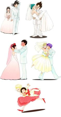 i love all the couples of dragon ball z(but i like little more vegeta and bulma) Dragon Ball Z, Dragon Ball Image, Dbz, Goten Y Trunks, Manga Dragon, Funny Dragon, Cute Anime Couples, Anime Love, Manga Girl