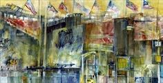 Shea Stadium Queens New York Watercolor  85 x 11Print by dfrdesign, $21.00