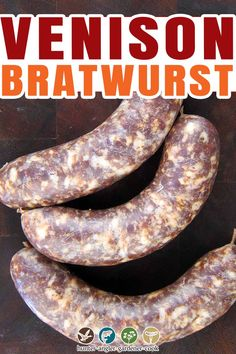 Typical bratwurst recipes make a light colored sausage, like the classic Sheboygan bratwurst recipe I make with pork or turkey. But for venison bratwurst, I want a darker, smokier link. That means red brats. What is a red brat? It's apparently unique to Madison, Wisconsin.| @huntgathercook #hankshaw #venisonrecipe #homemadebrats #howtomakebratwurst #deerhuting #bratwurstrecipe Venison Bratwurst Recipe, Venison Recipes, Meat Recipes, Dinner Recipes, Curing Salt, Wild Game Recipes, Best Comfort Food, Evening Meals