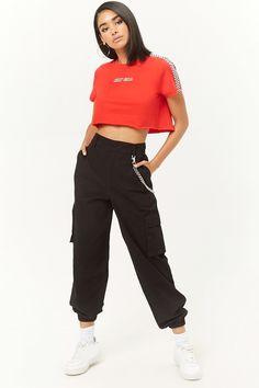 Cargo Pants For Women – Hit Pieces Of The Season activation Cargo Pants Outfit, Cargo Pants Women, Pants For Women, Baggy Cargo Pants, Jogger Pants, Forever 21 Outfits, Forever 21 Clothes, Forever 21 Fashion, Forever 21 Shirts