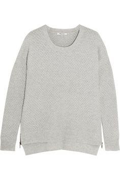 MADEWELL Bramble Textured Cotton-Blend Sweater. #madewell #cloth #knitwear
