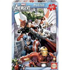 Puzzle Los Vengadores, 500 piezas Diviértete montando este puzzle de 500 piezas con la imagen de Los Vengadores.
